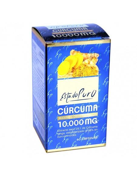 curcuma 10000 mg 40 capsulas estado puro