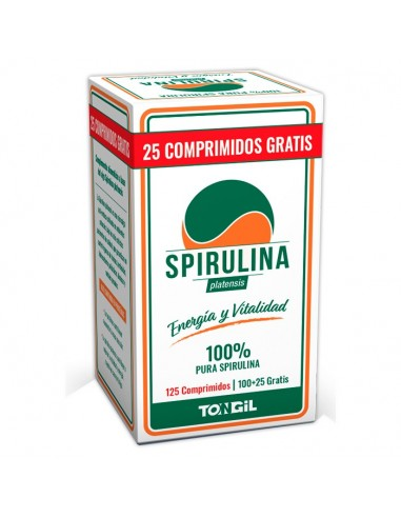 spirulina 125 comprimidos tongil