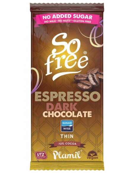 so free chocolate expreso intenso 72 80gr sin azucar