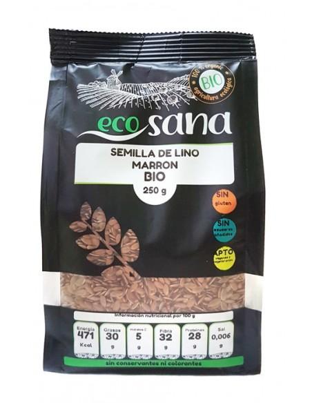 semilla lino marron bio 250gr ecosana