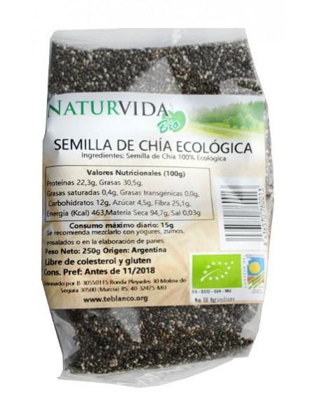 semilla chia bio 250 gr