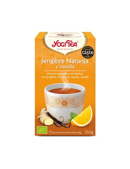 yogi tea jengibre naranja vainilla bio 17 bolsitas